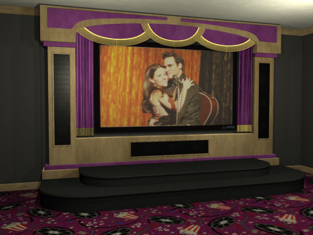 Audio home theater stage package for Auditorium stage decoration
