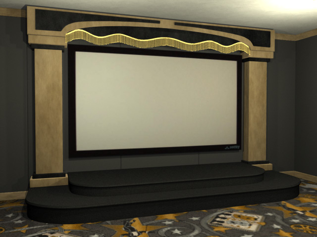 contemporary theater stage - Home Theater Stage Design