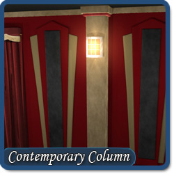 Home Theater Columns Custom Columns with Lightsconces