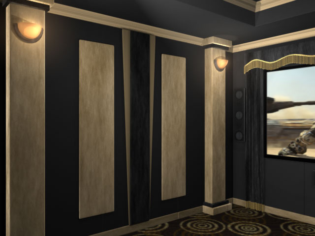 Contemporary Home Theater Accent