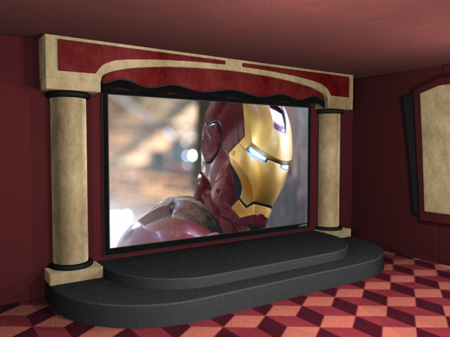 Contemporay Home Theater Stage Package