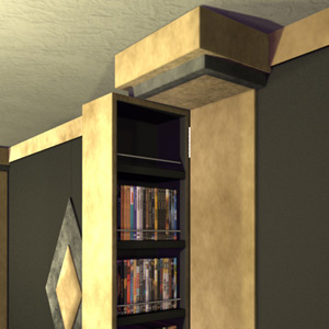 DVD Storage Home Theater Column