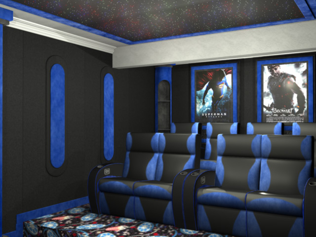 emperor home theater wall accents. Black Bedroom Furniture Sets. Home Design Ideas