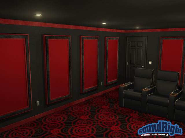 acoustical framed wall panels for home theaters. Black Bedroom Furniture Sets. Home Design Ideas