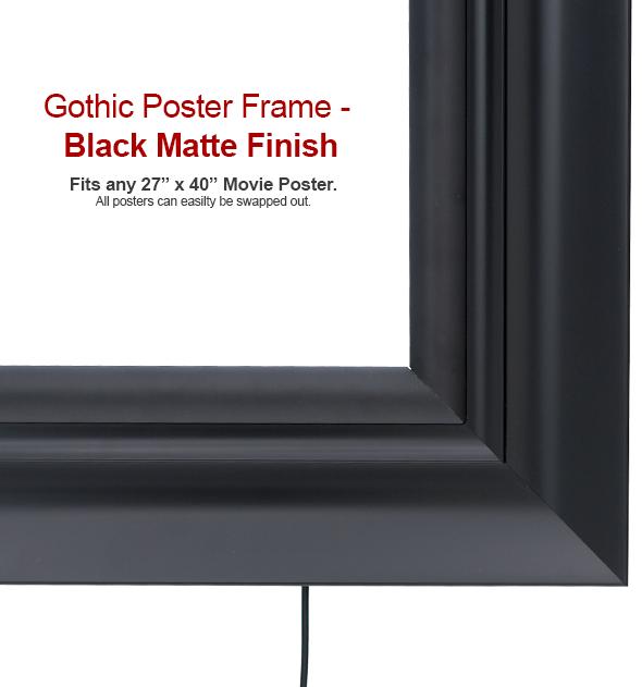 SoundRight Gothic White LED Black Poster Frame   4seating