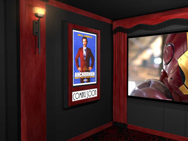 Passion Suede Home Theater Poster Frame