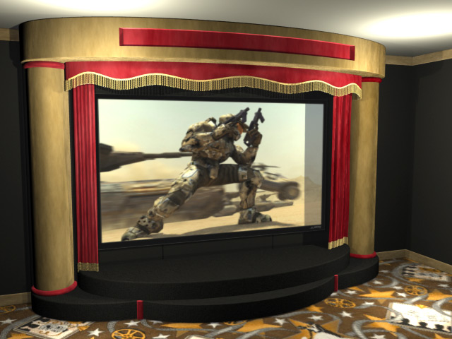 Proscenium home theater stage for Auditorium stage decoration