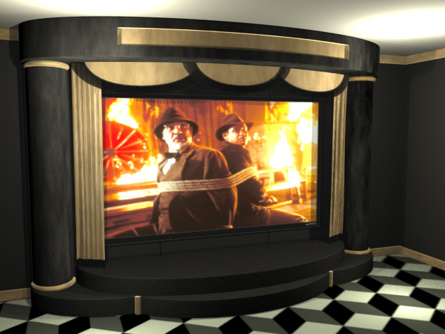 Proscenium Home Theater Stage