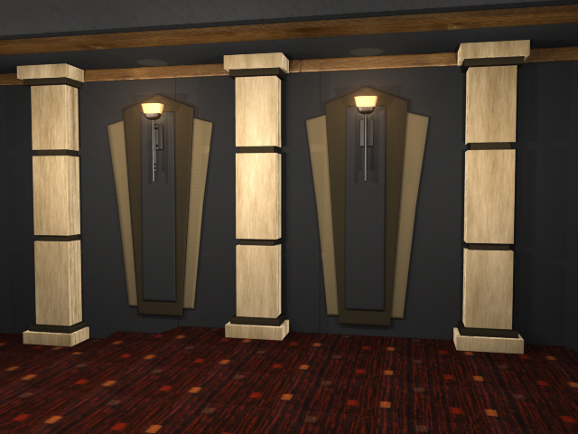 Square House With Columns : Techno square home theater column