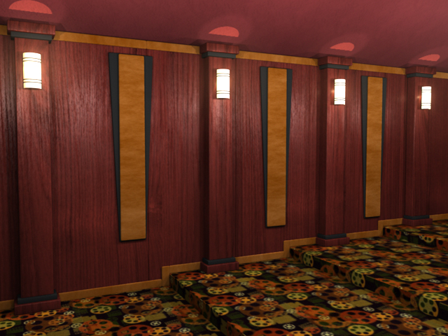 Home Theater Wall Panels veneered wood wall paneling