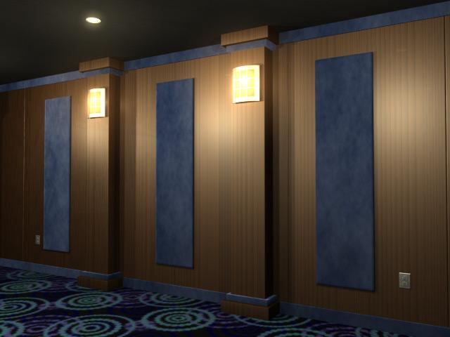 Veneered Wood Wall Paneling