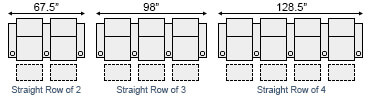 Barcalounger Columbia Cinema Seat Straight Row Configurations