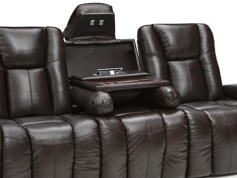 Barcalounger Griffith Media Room Sofa 4seating