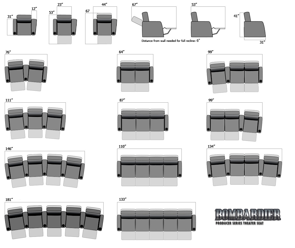 Bombardier Movie Theatre Seats And Home Theater Seating