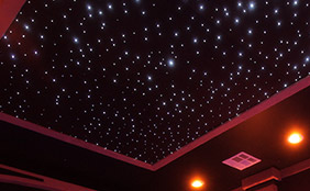 fiber optic star panels - Home Theater Decor