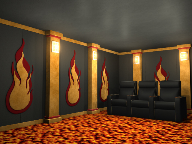 Flames Theater Wall Accessories