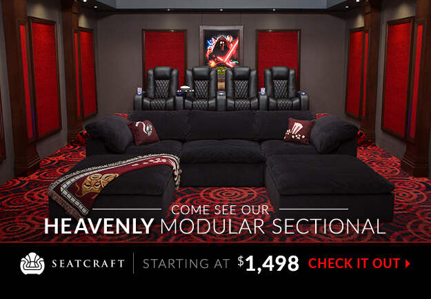 Home Cinema Decor Home Theater Featuring Original Designs By 3 D Squared Seatcraft Heavenly Modular Sofa