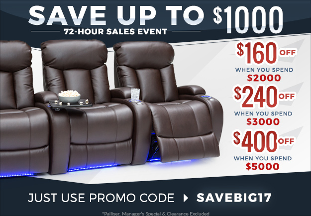 View our Home Theater Seating on Sale!