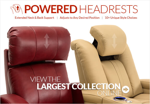 Largest Selection of Powered Headrest Home Theater Seating Online!