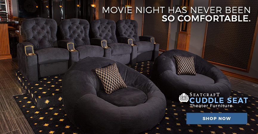 ... Home Theater Seating · Movie Night Has Never Been So Comfortable With  The Seatcraft Cuddle Seat ...
