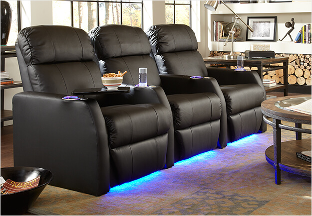 Home theater seating home theater furniture movie for Space saving seating