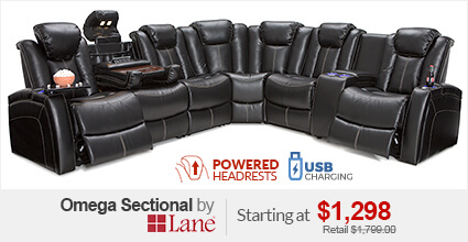 Lane Omega Home Theater Sectional