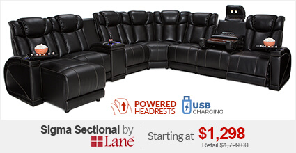 Lane Sigma Home Theater Sectional : theater sectional sofas - Sectionals, Sofas & Couches