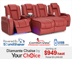 Seatcraft Diamante Chaise Theater Seats