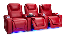 Seatcraft Equinox Red Leather Theater Seating