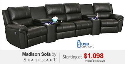 Seatcraft Madison Theater Sectional