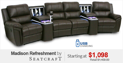 Seatcraft Genesis Theater Sectional. Seatcraft Madison Refreshment Console Sofa : home theater sectional sofas - Sectionals, Sofas & Couches