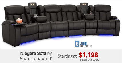 Seatcraft Niagara Sofa  sc 1 th 161 : theater seating sectional sofa - Sectionals, Sofas & Couches