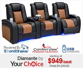 Seatcraft Diamante Two-Tone Theater Seating