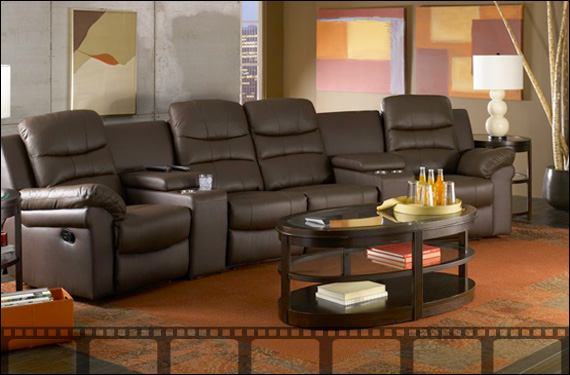 Home theater seating home theater furniture movie for Furniture for media room