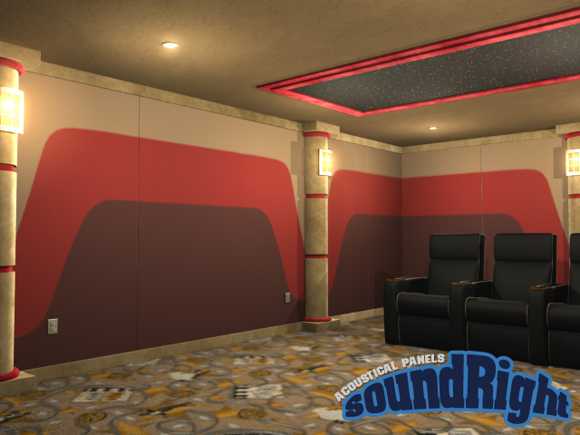 home theater acoustic wall panels. panel-ramic wallpanels home theater acoustic wall panels