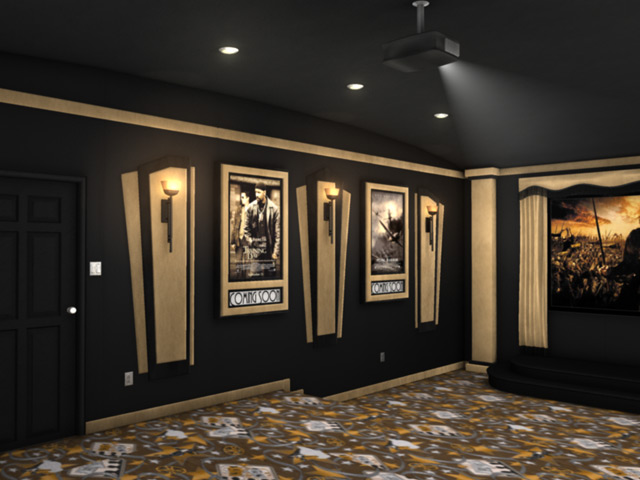 home theater paint schemes