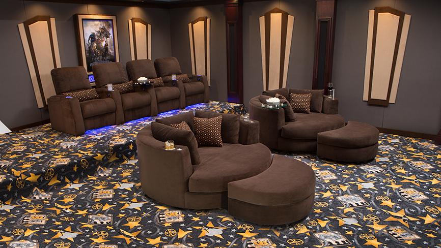 Swivel Cuddle Chair Complete Theater Design