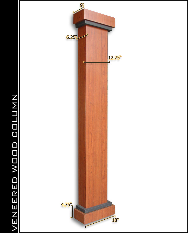 Veneered Wood Home Theater Column