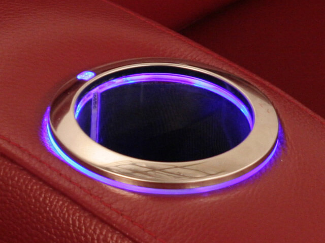 Ambient Blue Lighted Cupholder