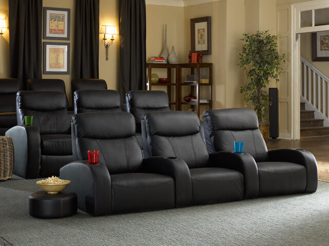 home theater seats seatcraft rialto front row home theater seating 4seating 13324