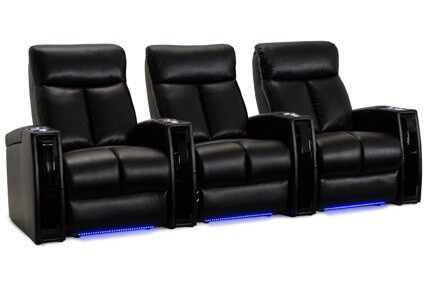 Seatcraft Seville 5 Materials, 15+ Colors, Powered by SoundShaker, Power or Manual Recline, Straight or Curved Rows