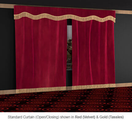 Soundright Open Close Home Theater Curtains 4seating