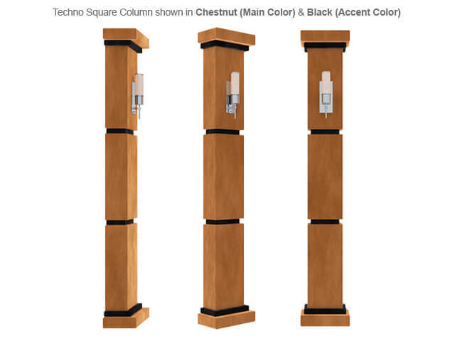 SoundRight Techno Square Column Home Theater Decor