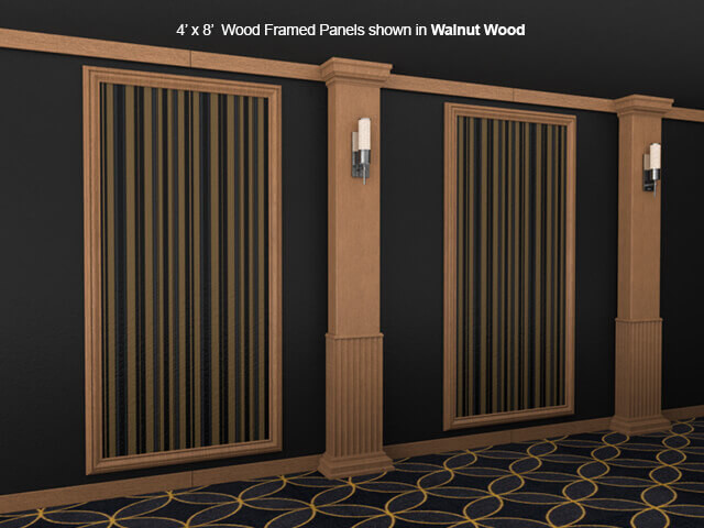 Soundright Wood Framed Acoustical Wall Panel 4seating