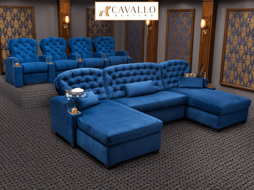 Cavallo Chateau Media Lounge Theater Furniture