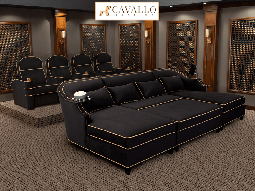 Cavallo Chorus Media Lounger Complete Theater Design