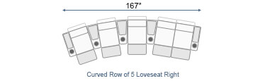Curved Loveseat & Sofa Home Theater Seating Configurations