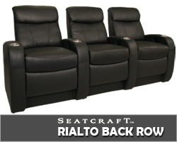 Rialto Back Row Theater Seating