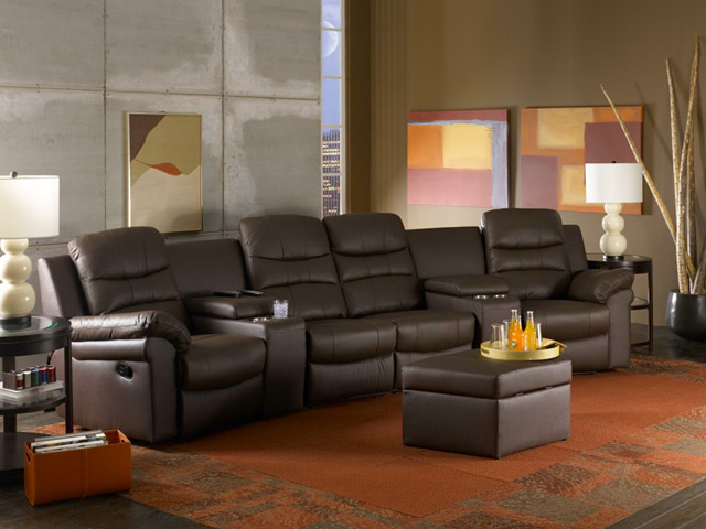 Home Theater Sofa Bed Pu Leather Home Theater Seats