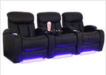 Seatcraft Grenada Leather Gel Theater Seats
